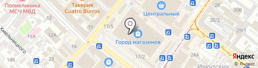 Времена года на карте Иркутска