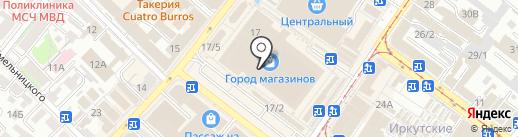 Оренбургские и Павлопосадские платки на карте Иркутска