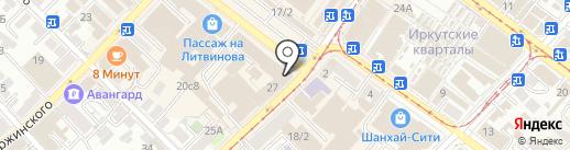 Награда центр на карте Иркутска