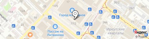 ЛИСиКо на карте Иркутска