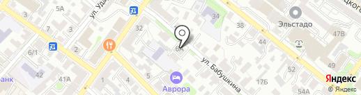 НОТа на карте Иркутска