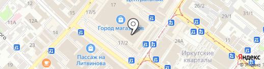 Салон верхней мужской одежды на карте Иркутска