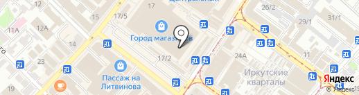 Магазин садово-хозяйственных товаров на карте Иркутска
