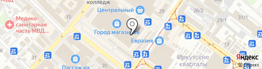 Магазин верхней одежды на карте Иркутска