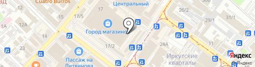 Южная на карте Иркутска