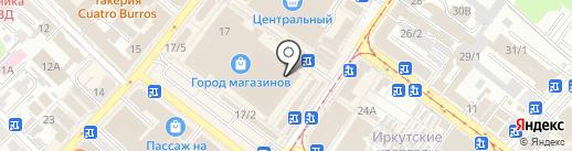 Магазин товаров для туризма на карте Иркутска