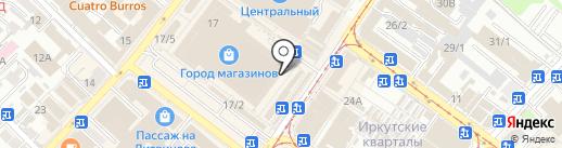 Магазин мужской одежды на карте Иркутска