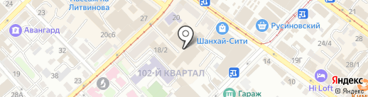 Вариант ЛЕНД на карте Иркутска