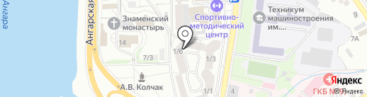 Модуль на карте Иркутска