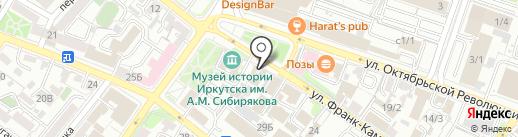 Реал на карте Иркутска