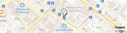 Мастерская на карте Иркутска