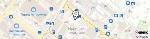 Всякие мелочи на карте Иркутска