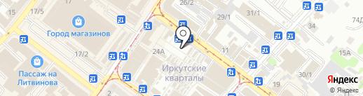 Магазин кормов для животных на карте Иркутска