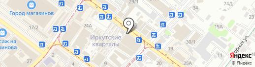 Малыш на карте Иркутска