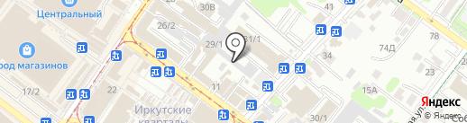 Восточный на карте Иркутска