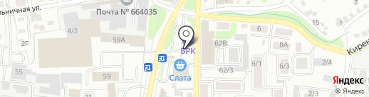 Restart на карте Иркутска