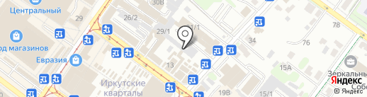 БайТекс на карте Иркутска