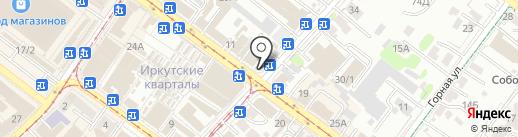 Перовский на карте Иркутска