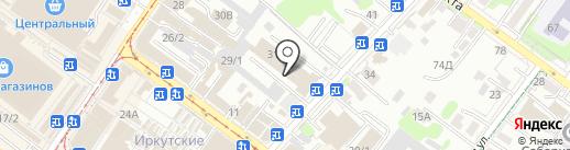 Планета сувениров на карте Иркутска