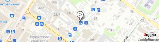 Сомон на карте Иркутска