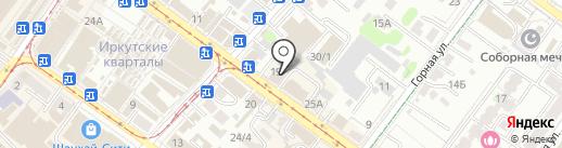 А-Инж на карте Иркутска