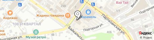 КОРСА на карте Иркутска