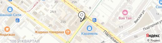 Анор на карте Иркутска