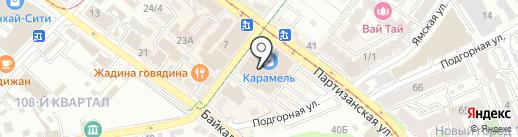 Карамель на карте Иркутска