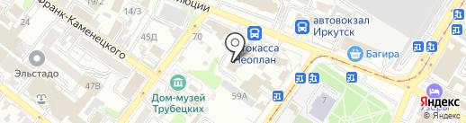 Банкет-текстиль на карте Иркутска