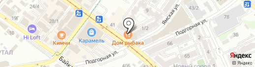 Авангард на карте Иркутска