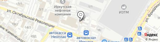 Домашний очаг на карте Иркутска