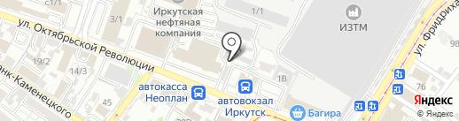 Апи-Сан на карте Иркутска