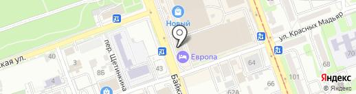 Клео на карте Иркутска