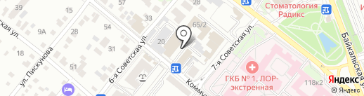 Спектр безопасности на карте Иркутска