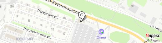 Иней на карте Иркутска