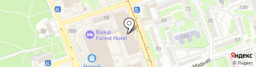 Свет и музыка на карте Иркутска