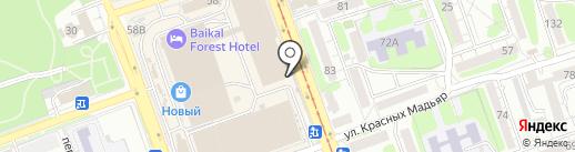 Байкал Виза на карте Иркутска