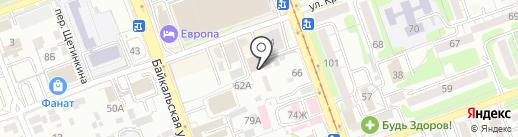 ИрПол на карте Иркутска
