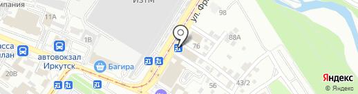 Городская служба дезинфекции на карте Иркутска