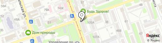 Белль Флер на карте Иркутска