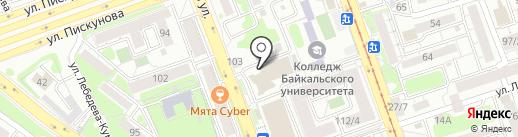 Диалог на карте Иркутска