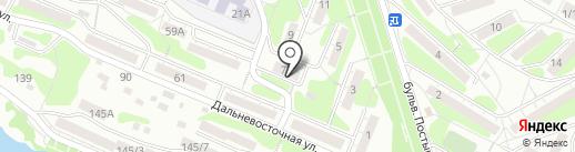 Домашний на карте Иркутска