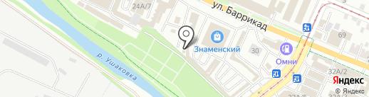 Шиноман на карте Иркутска