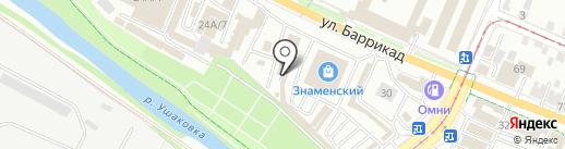 Знаменский на карте Иркутска