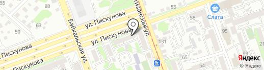 Кафе на карте Иркутска