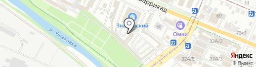 Магазин автозапчастей на карте Иркутска