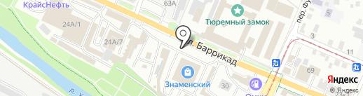 СА пластик на карте Иркутска