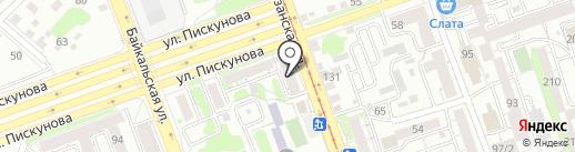 Новосел на карте Иркутска