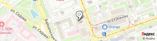 Иркутский областной суд на карте Иркутска
