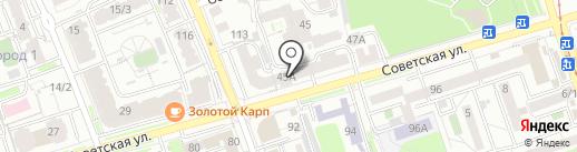 Винтаж на карте Иркутска